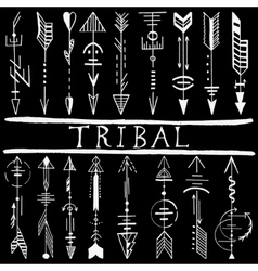 Tribal Hand Drawn arrow vector image