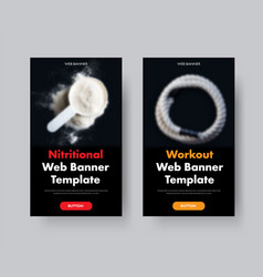 two black vertical web banners with place for vector image