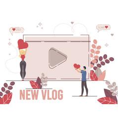Vlogger follower subscriber vector