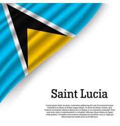 Waving flag of saint lucia vector