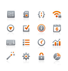 web and mobile icons 4 - graphite series vector image