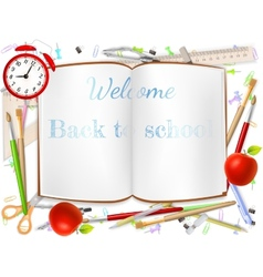 Welcome Back to school supplies EPS 10 vector