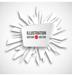 abstract frame on a background of white fragments vector image