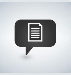 chat bubble communication document file message vector image