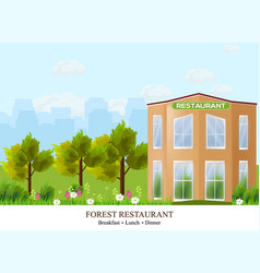 facade restaurant architecture beautiful vector image vector image