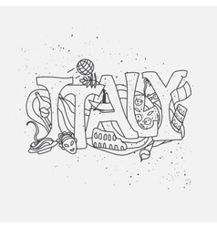 Italy hand-drawn design vector image vector image