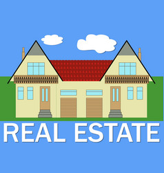 real estate banner with stylized family house vector image vector image
