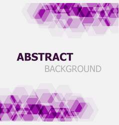 abstract purple hexagon overlapping background vector image vector image
