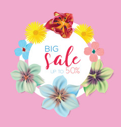 big sale banner circle label vector image vector image