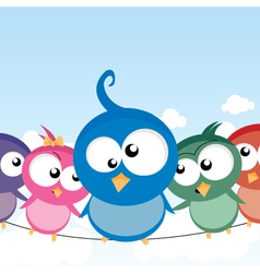 birds on a wire vector image vector image
