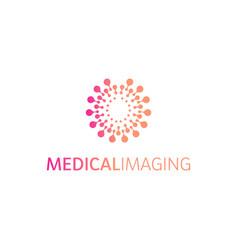 brain hemispheres logo round shapes abstract vector image