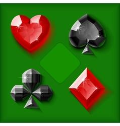 jewel card symbols vector image