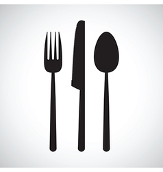 kitchen knife and fork set vector image