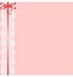 lace ribbon and bow vector image