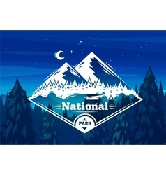 National park typography design on vector image