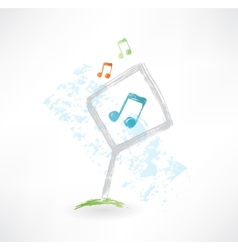 plate music grunge icon vector image