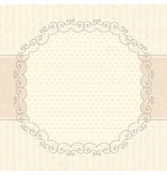 vintage card vector image