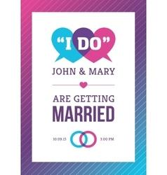 Bright Creative Wedding Card Design vector image vector image