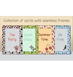 Collection of Card postcards Frames Made of vector image