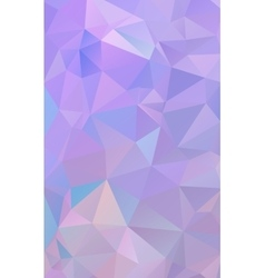 Lavender lilac abstract polygonal geometric vector image vector image