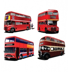 London buses vector image vector image