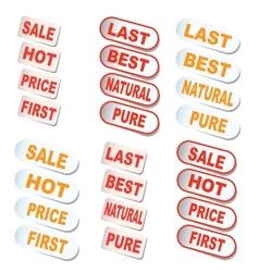 Set Labels and design element vector image
