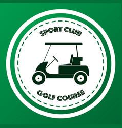 Sport club golf course logo design vector