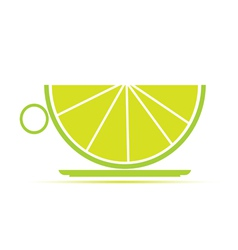 a cup of lime vector image