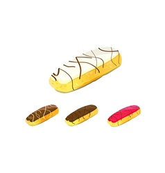 eclair cake vector image