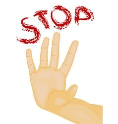 hand stop vector image vector image
