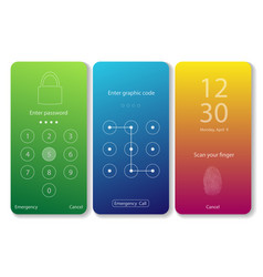 mobile screen locks vector image