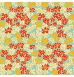 Ornate floral endless color pattern vector image vector image