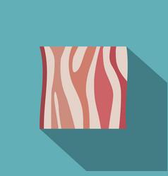slice of ham icon flat style vector image