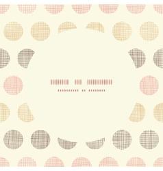 Vintage textile polka dots oval frame seamless vector image vector image