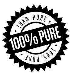 100 percent pure stamp on white vector