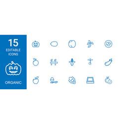 15 organic icons vector