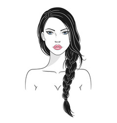 a beautiful young woman vector image