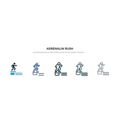 Adrenalin rush icon in different style two vector