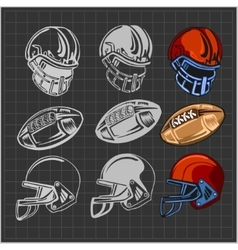 American football - elements for emblem vector