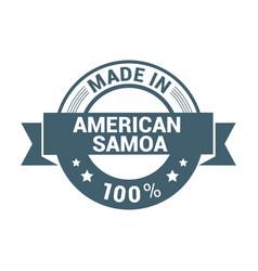 american samoa stamp design vector image
