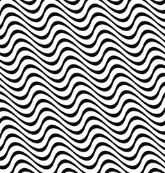 Angular abstract monochrome seamless wave pattern vector