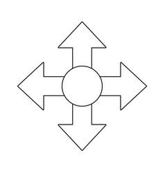 arrows icon image vector image