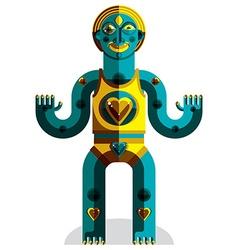 Avant-garde mythic person pagan symbol vector