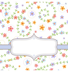 Background with multicolored flowers vector