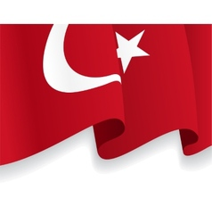 Background with waving Turkish Flag vector image