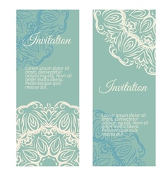 Banners invitation style retro vintage vector image