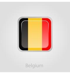 Belgium flag button vector
