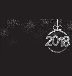 Black 2018 new year background vector