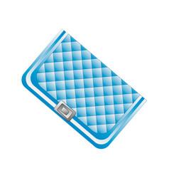 blue beautiful clutch vector image