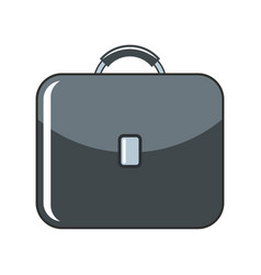 briefcase cartoon icon isolated on a white vector image